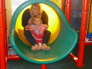 Anna and Mack slide
